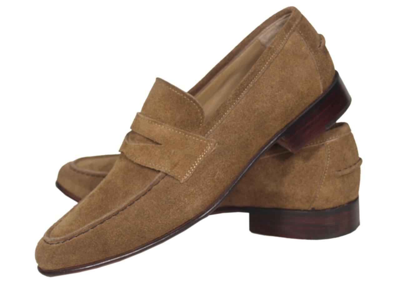 Handmade Mens Made to Order Brown Suede Leather Boots Dress Shoes With Leather Sole For Men