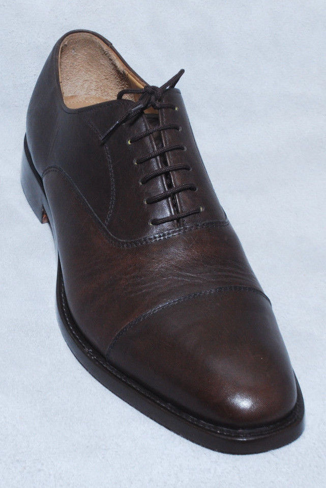 Handmade Mens Oxferd Brown Color Sucede Leather Fashion Dress Shoes With Laces