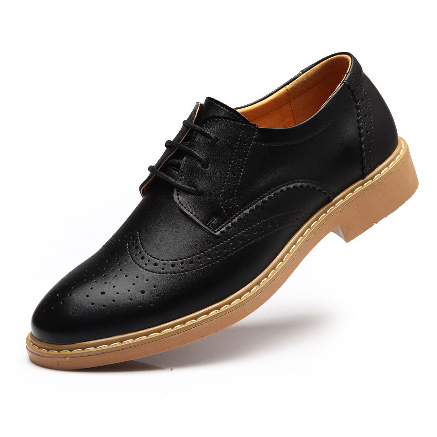 dd71a6d48dec Handmade MENS Black COLOR Oxford Brogues Leather Sole Dress Shoes For Men