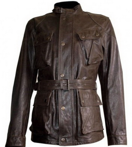 Men s Military Rider Leather Jacket on Luulla 28575bdd601
