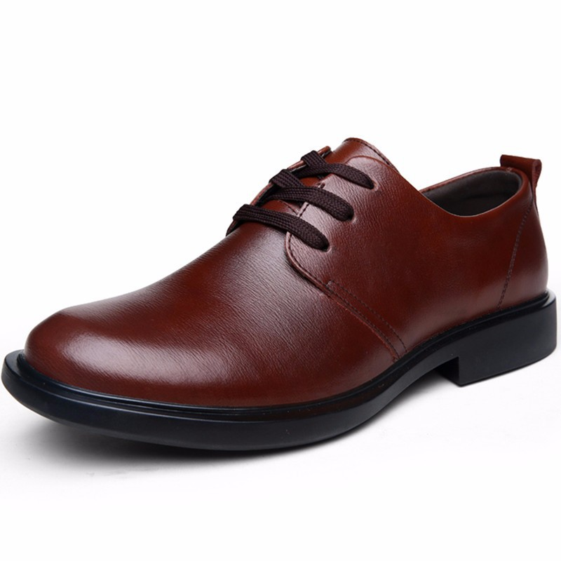 Customized Handmade Burgundy Color Derby Leather Lace Up Men's Dress Shoes Back Pull, Plain Toe And Black Sole Made To Order