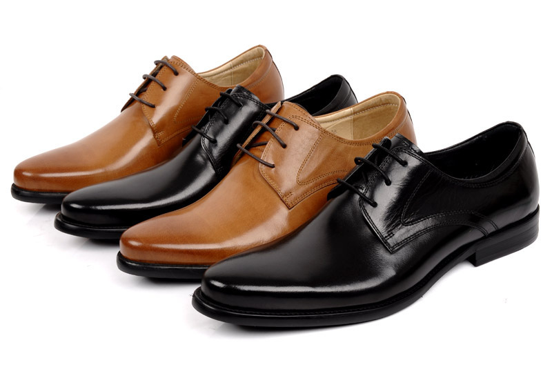Customized Handmade Multi Color Derby Leather Men's Dress Shoes With Plain Toe Perfect For Business And Wedding Made To Order