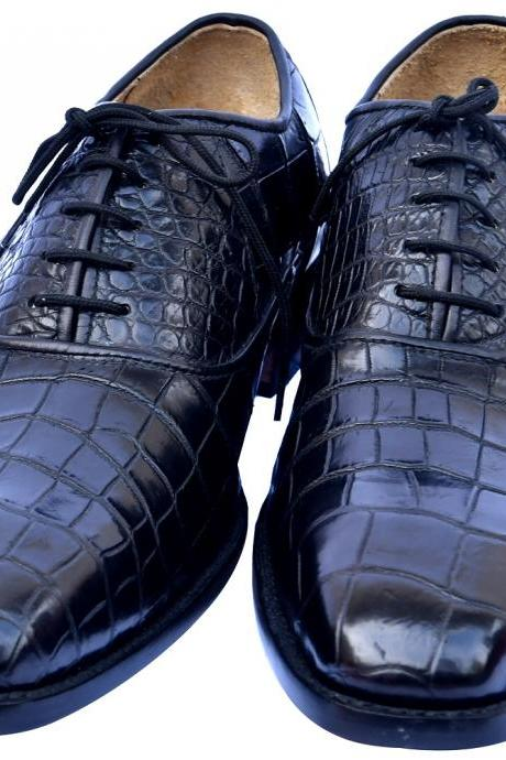 Quick Finds Black Rock Double Sole Sterling Crocodile Leather Bureaucrats Formal Shoes For Men