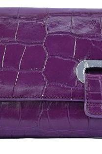 Optimal Hot Purple Concocted With Pure Crocodile Belly Leather Royal Clutch