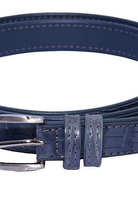 Professional Torea Bay Buckle Frame Double Loop Original Alligator Leather Men Belt