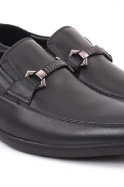 GENUINE LEATHER HORSE BIT MOCCASIN APRON TOE MEN OFFICE SHOES