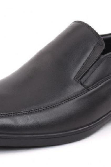 OPTIMAL SHOES BLACK COLOR LOVELY SHAPE STERLING LEATHER MOCCASIN DRESS SHOES