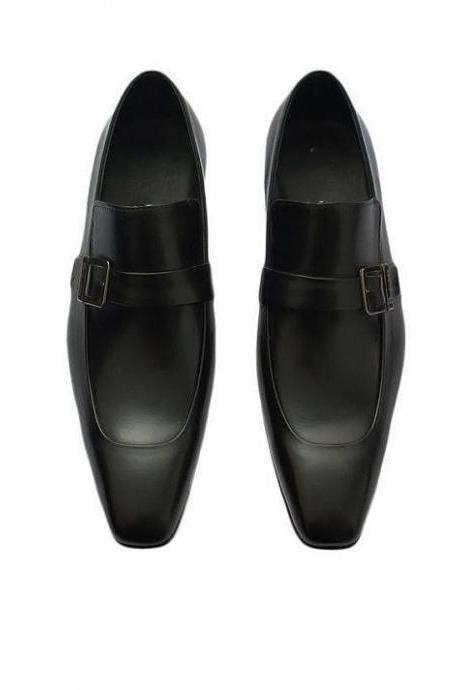 Handmade Mens Dress Formal Shoes With Leather Loafers