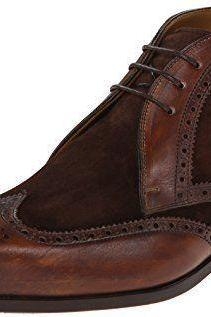 Handmade Mens Brown Brogue Ankle Suede Leather Chukka Boots