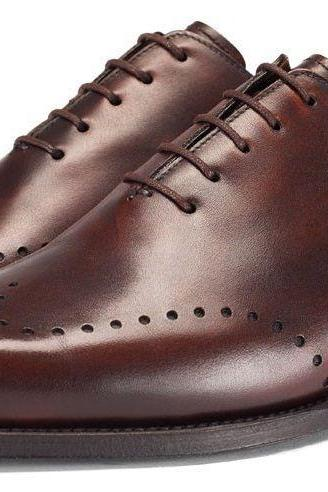 Handmade Mens BROWN COLOR NEW STYLISH DRESS SHOES,