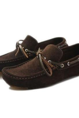 Handmade Mens Monk Formal Brown Loafers Leather Shoes For Men