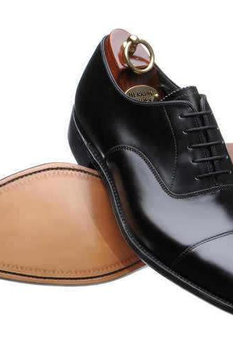 Handmade Mens Black color Top Fashion Dress English Leather Shoes For Men