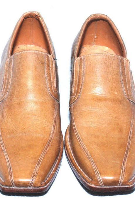 Handmade Mens Brown Color Leather Sole Dress Shoes With Beautiful Shape For Men