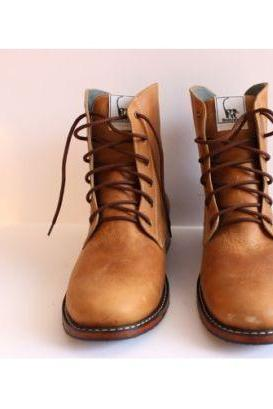 Handmade Mens Brown Andasolo Simple Narrow Boots For Men