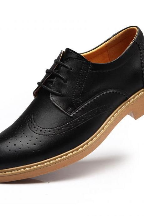 Handmade MENS Black COLOR Oxford Brogues Leather Sole Dress Shoes For Men