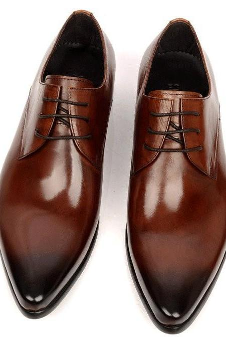 Handmade Mad to Order Mens shoes Designs genuine leather dress wedding formal business men shoes