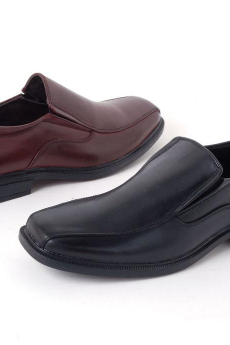 Customized Handmade Multi Color Slip On GoodYear Welted Leather Men's Dress Shoes With Side Gusset And Square Toe Made To Order