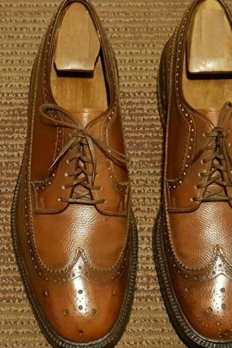 Customized Handmade Brown Color Brogue Leather Men's Dress Shoes Made To Order