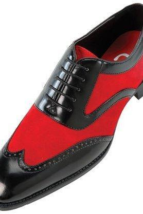 Customized Handmade Black And Red Color Oxford Wingtip Suede Leather Men's Dress Shoes Beautiful Design With Multi Color Perfect For Weedings And Parties Made To Order