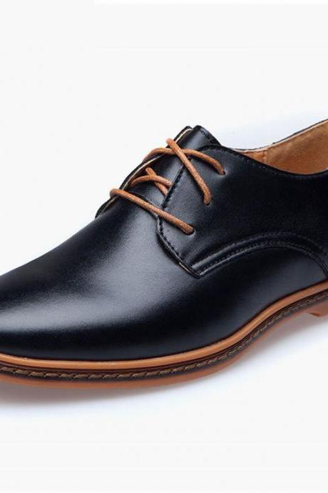Customized Handmade Black Color Formal Leather Men's Dress Shoes With Contrast Sole Made To Order