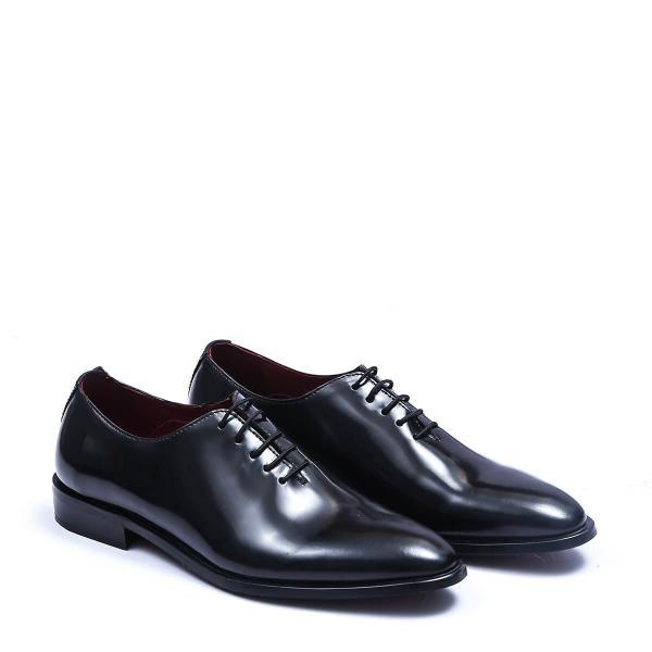 Made To Order Black Color Wholecut Lace Up Premium Leather Men Formal Shoes