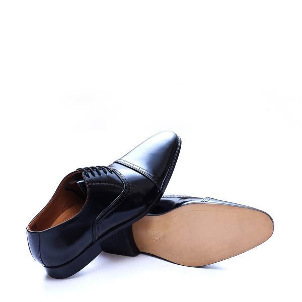 Superior Design Customize Black Oxford Pointed Cap Toe Pure Leather Men Dress Shoes