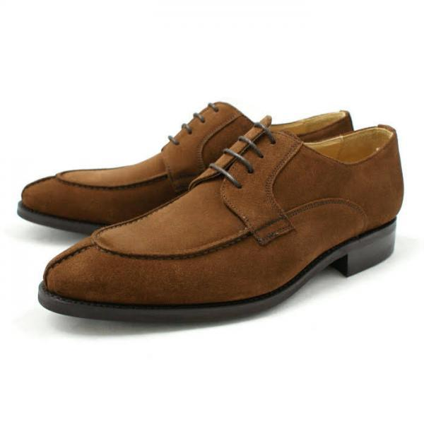 Stylish Handmade Brown Suede Leather Split Toe Men Derby Casual Shoes Made To Order