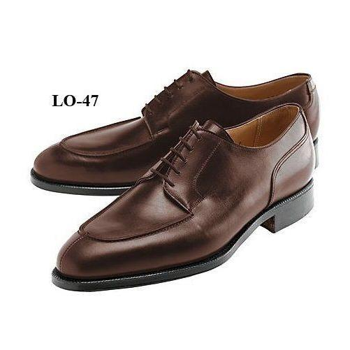 Handmade Mens Oxferd Brown Color Real Leather Sole Dress Shoes With Laces