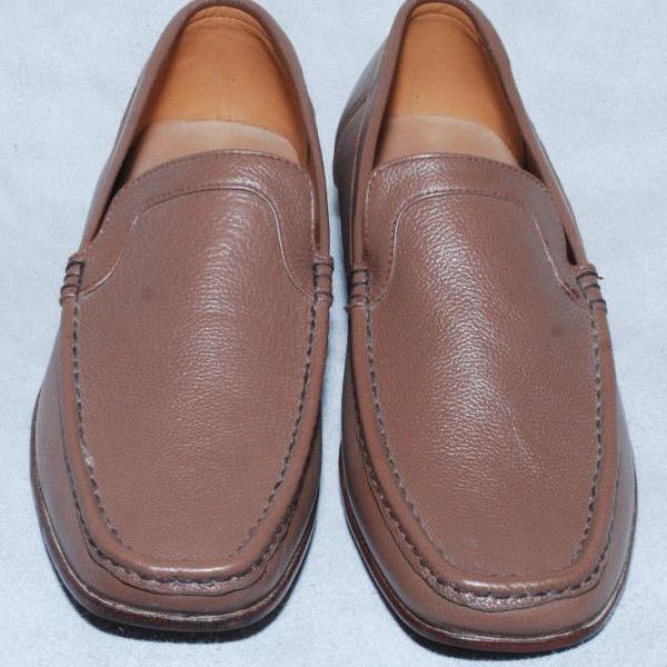Handmade Mens Brown Color Fashion Pure Leather Sole Dress Shoes