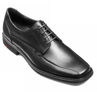 Customized Handmade Black Polish Derby Leather Men's Dress Shoes Square Toe And Lace Up Made To Order