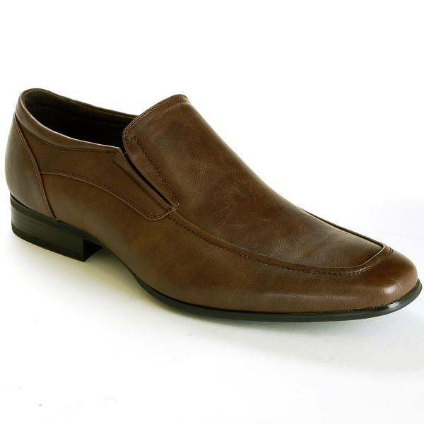 Customized Handmade Brown Color Slip On Leather Men's Dress Shoes With Side Gusset And Apron Toe Made To Order